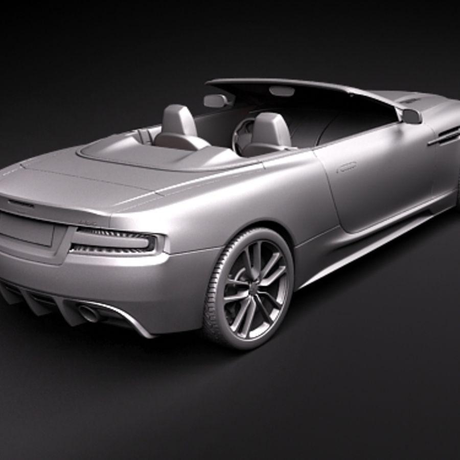 Aston Martin DBS Volante Cabrio 2010 royalty-free 3d model - Preview no. 10