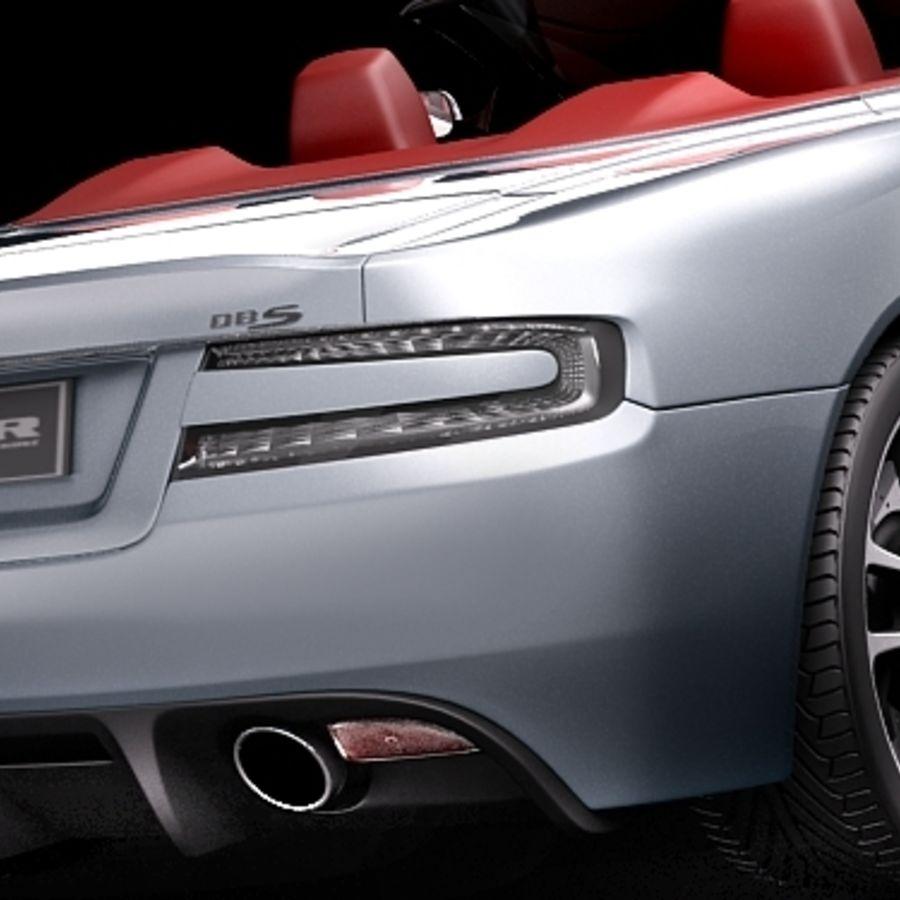 Aston Martin DBS Volante Cabrio 2010 royalty-free 3d model - Preview no. 4
