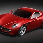 Alfa Romeo 8C Competizione MidPoly 3d model