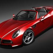 Alfa Romeo 8c Spider 3d model