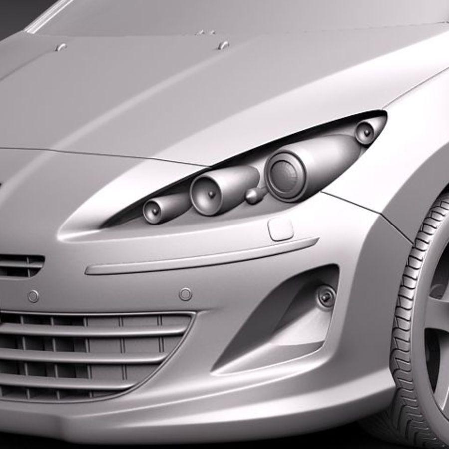 Peugeot 408 sedan 2011 royalty-free 3d model - Preview no. 10