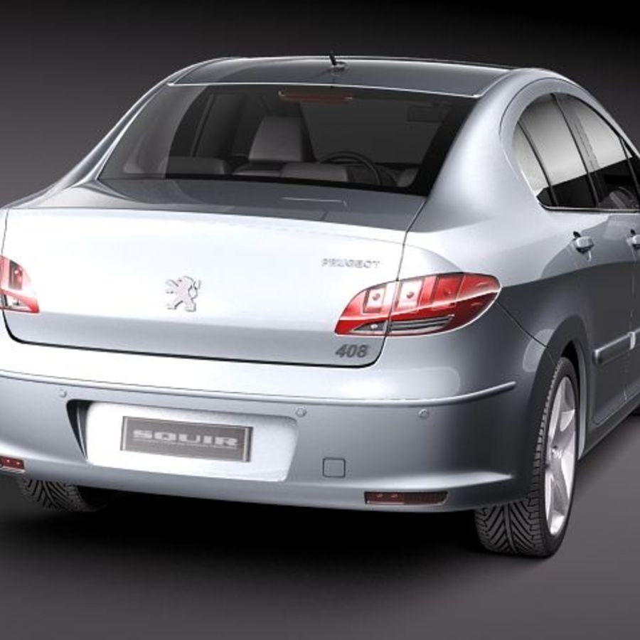 Peugeot 408 sedan 2011 royalty-free 3d model - Preview no. 6