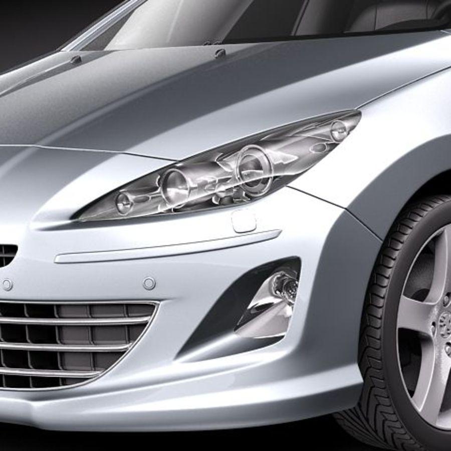 Peugeot 408 sedan 2011 royalty-free 3d model - Preview no. 3