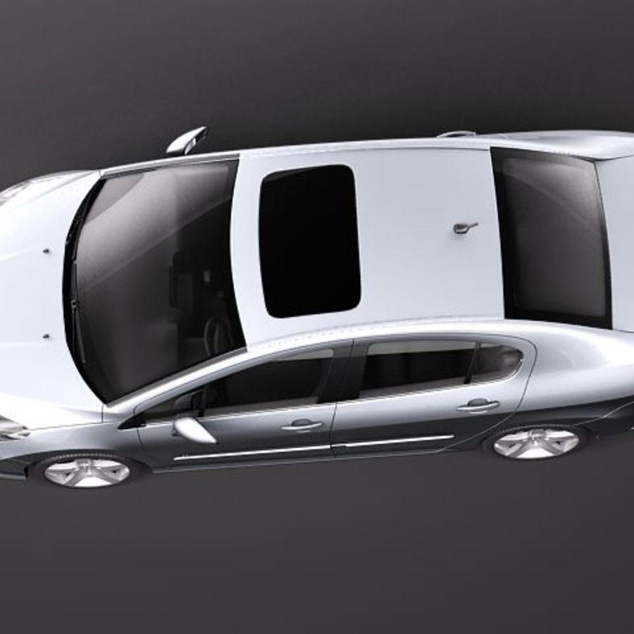 Peugeot 408 sedan 2011 royalty-free 3d model - Preview no. 8