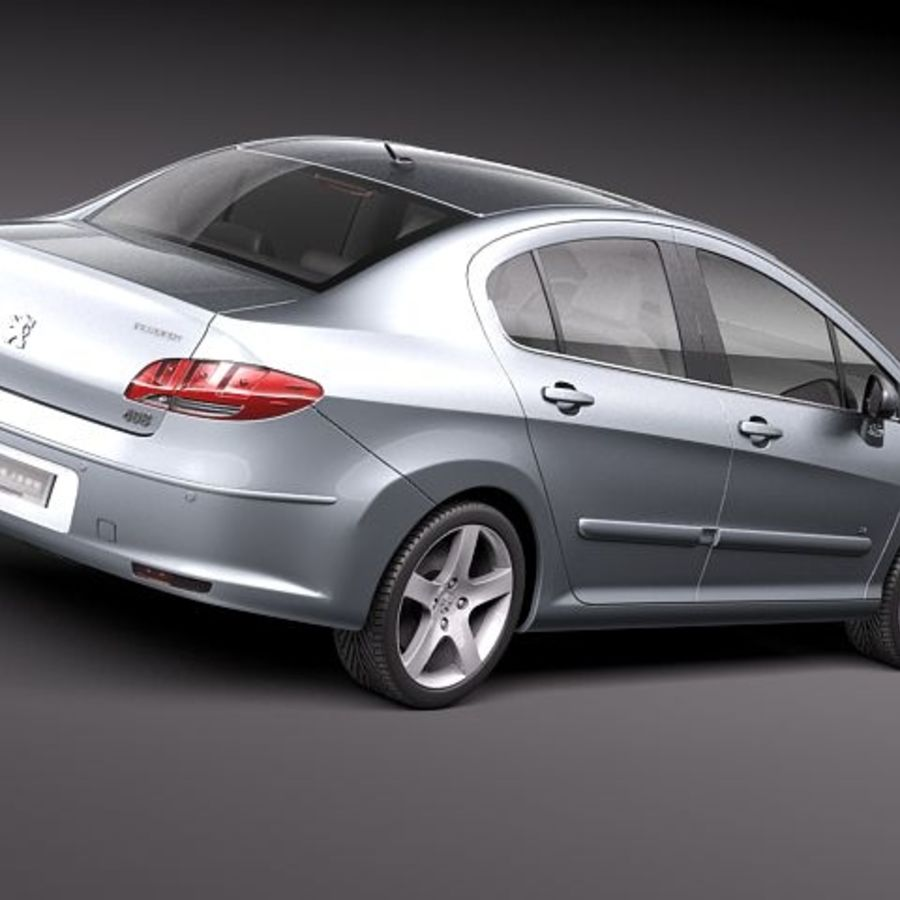 Peugeot 408 sedan 2011 royalty-free 3d model - Preview no. 5