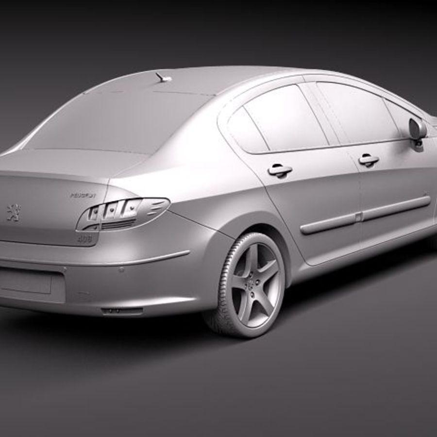 Peugeot 408 sedan 2011 royalty-free 3d model - Preview no. 12