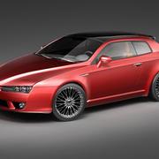 Alfa Romeo Brera 2006 3d model
