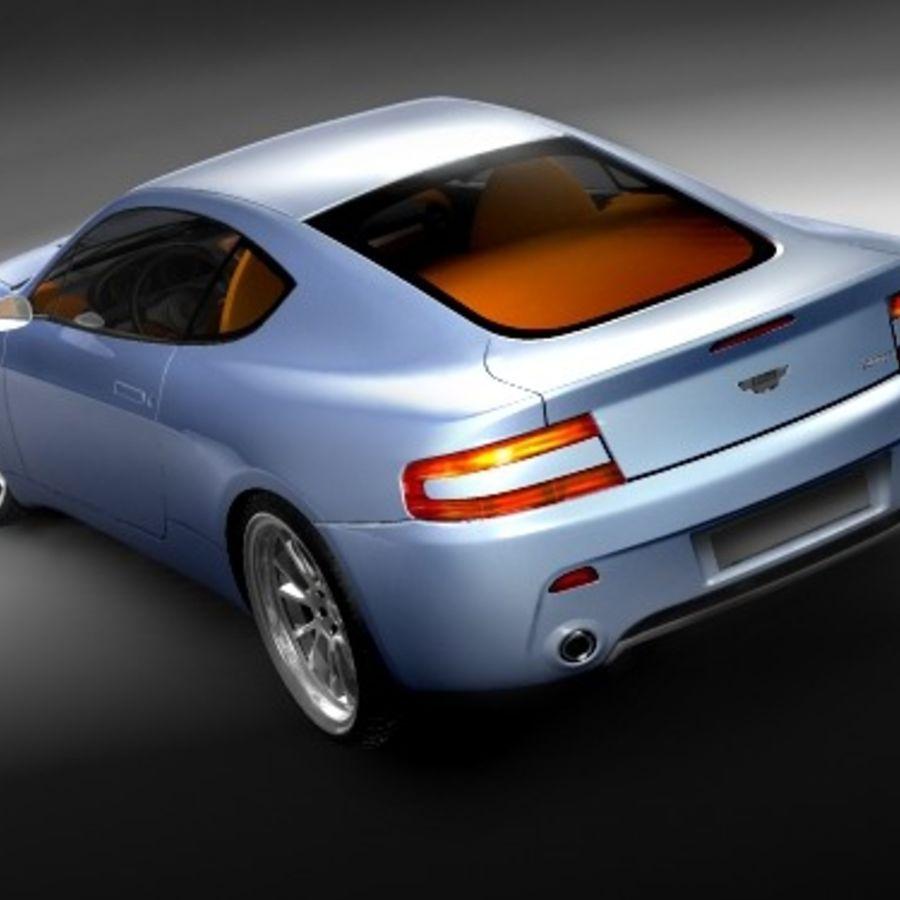 Aston Martin v8 royalty-free 3d model - Preview no. 5