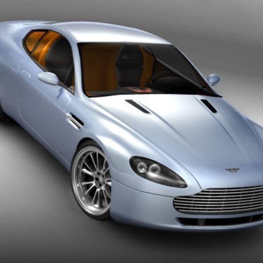 Aston Martin v8 royalty-free 3d model - Preview no. 2
