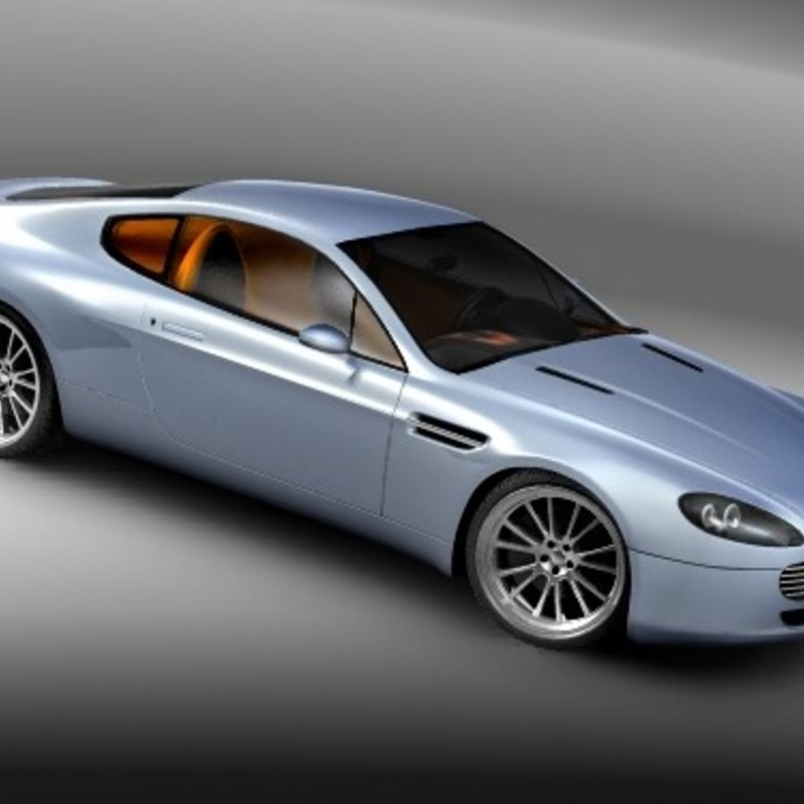 Aston Martin v8 royalty-free 3d model - Preview no. 3