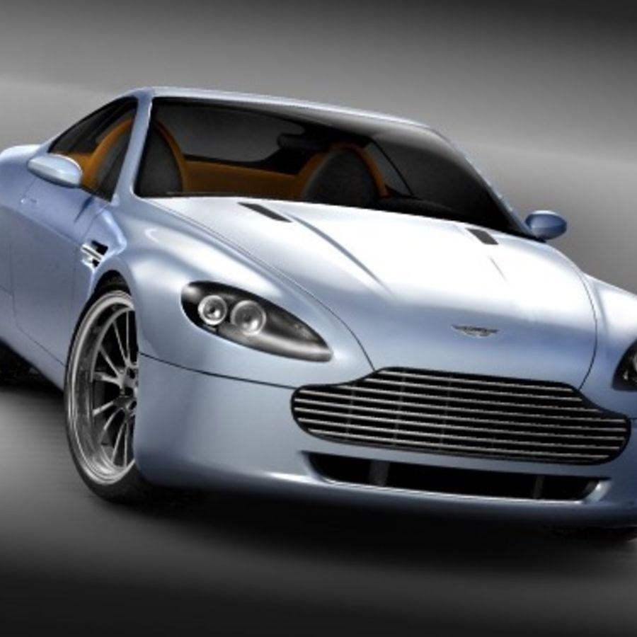 Aston Martin v8 royalty-free 3d model - Preview no. 4