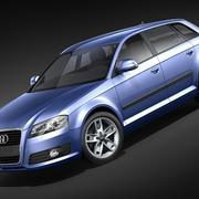 Audi A3 2009 Sportback 3d model