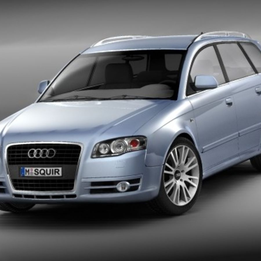 Audi A4 2005 Avant royalty-free 3d model - Preview no. 3