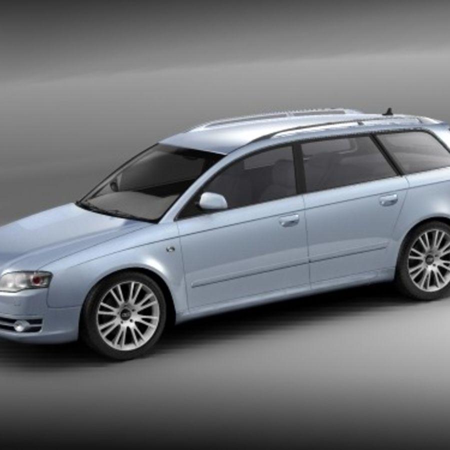 Audi A4 2005 Avant royalty-free 3d model - Preview no. 2