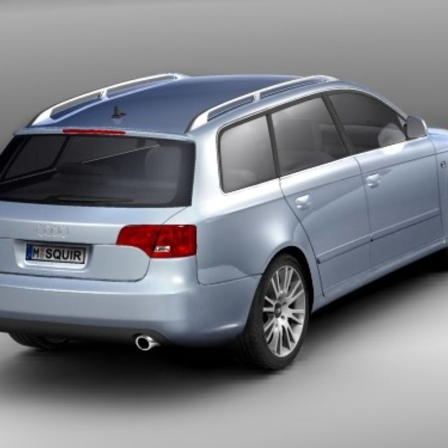 Audi A4 2005 Avant royalty-free 3d model - Preview no. 5