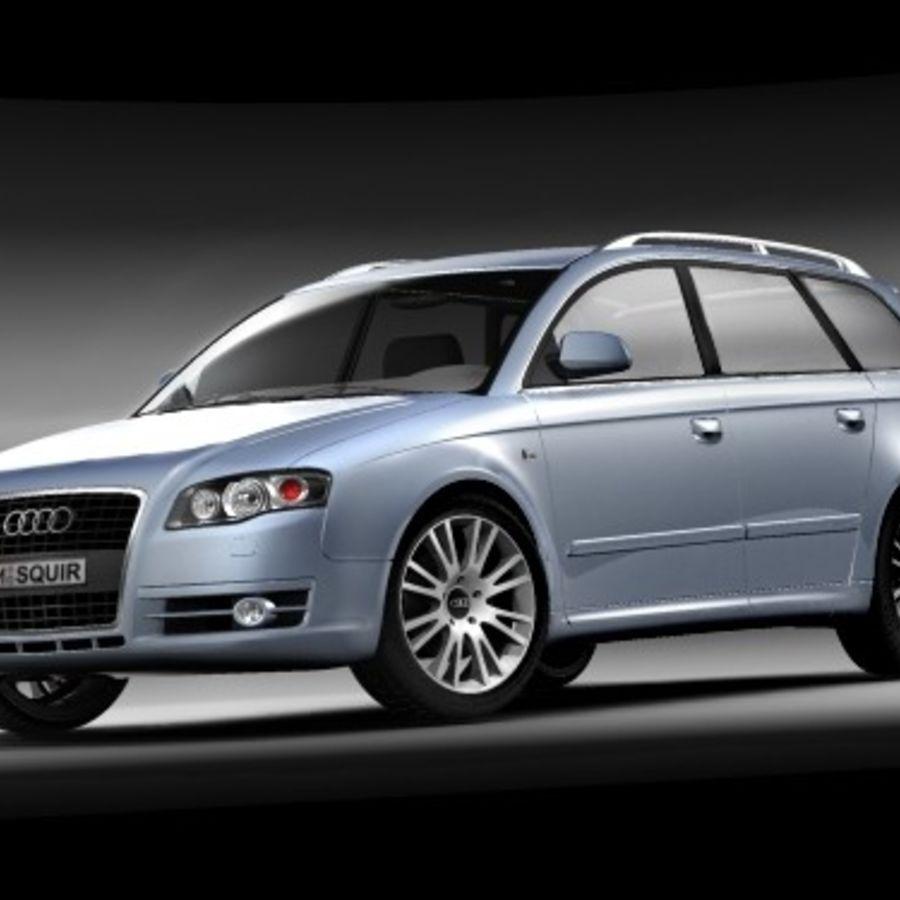 Audi A4 2005 Avant royalty-free 3d model - Preview no. 4