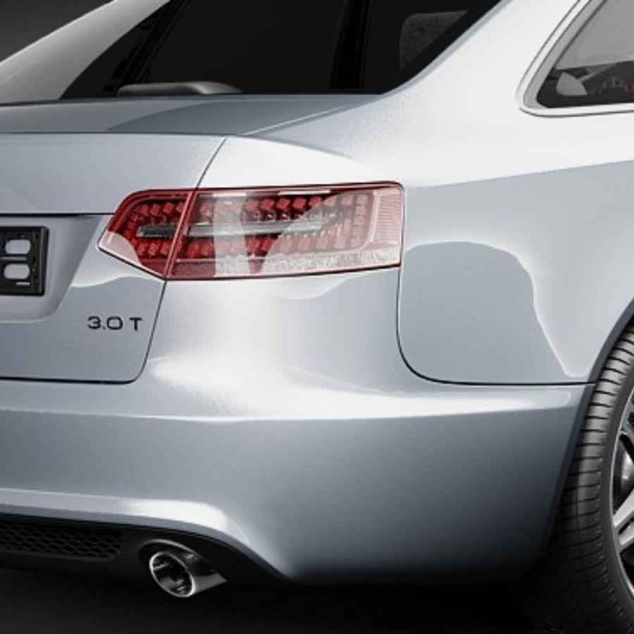 Audi A6 Limousine 2009 royalty-free 3d model - Preview no. 4