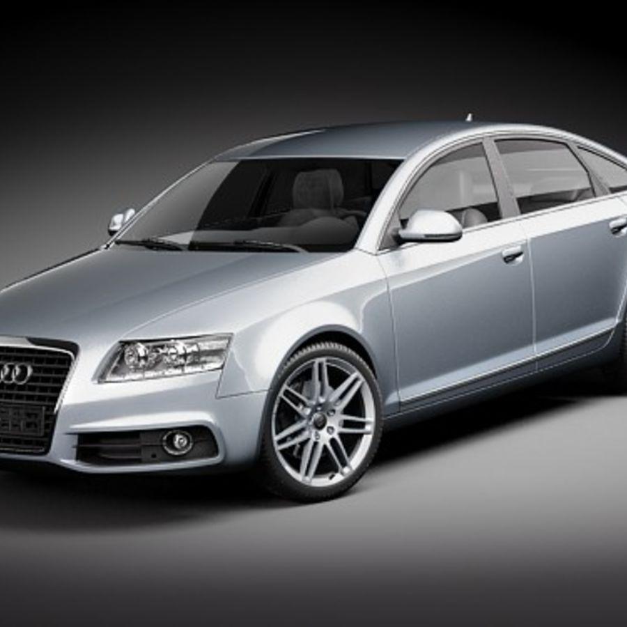 Audi A6 Limousine 2009 royalty-free 3d model - Preview no. 1