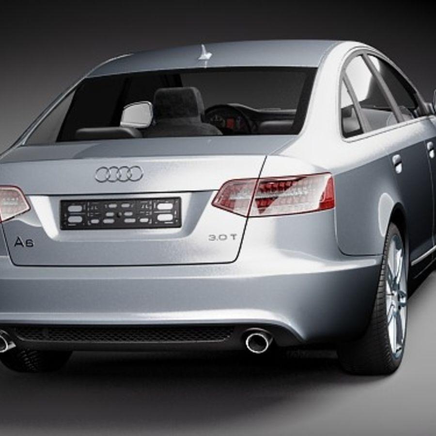 Audi A6 Limousine 2009 royalty-free 3d model - Preview no. 6