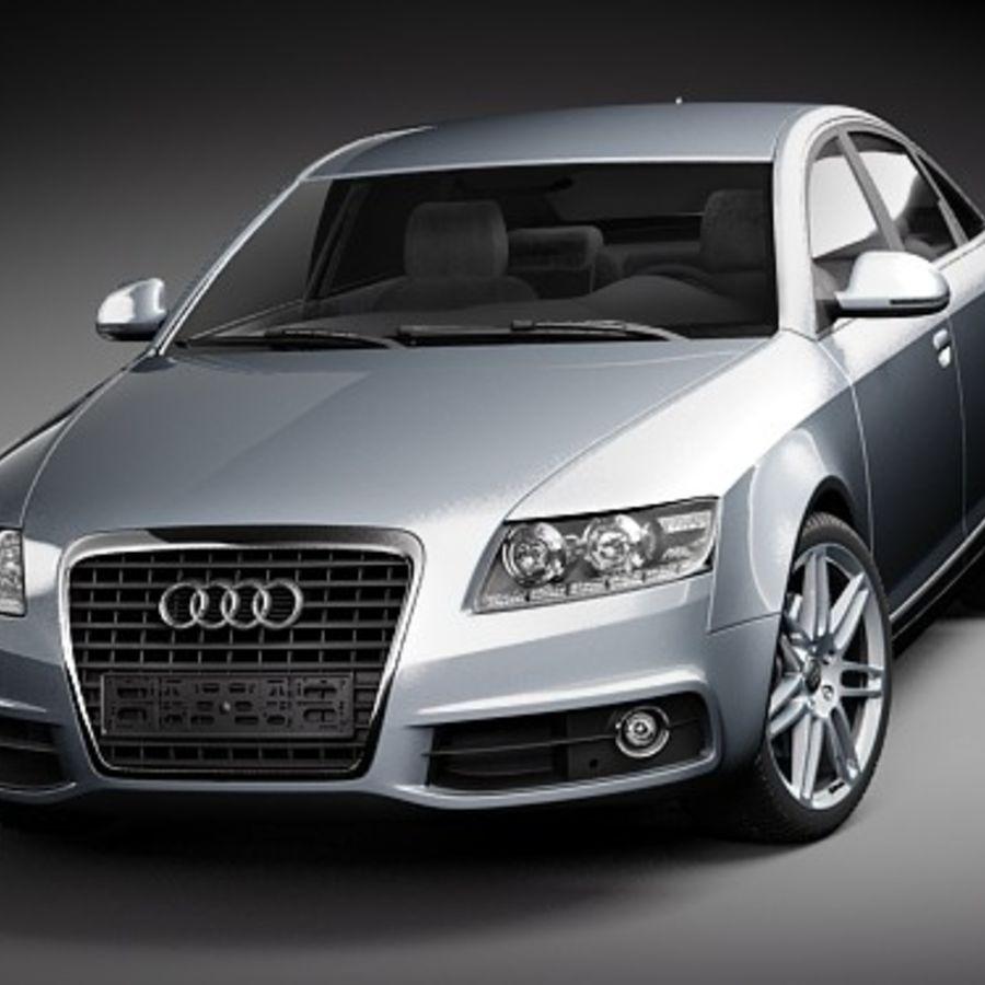 Audi A6 Limousine 2009 royalty-free 3d model - Preview no. 2