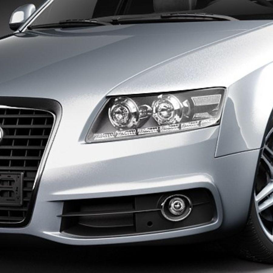 Audi A6 Limousine 2009 royalty-free 3d model - Preview no. 3