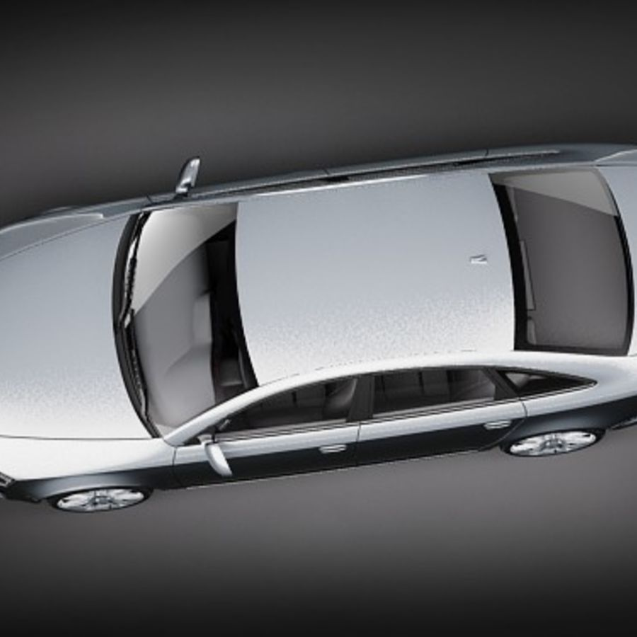 Audi A6 Limousine 2009 royalty-free 3d model - Preview no. 8