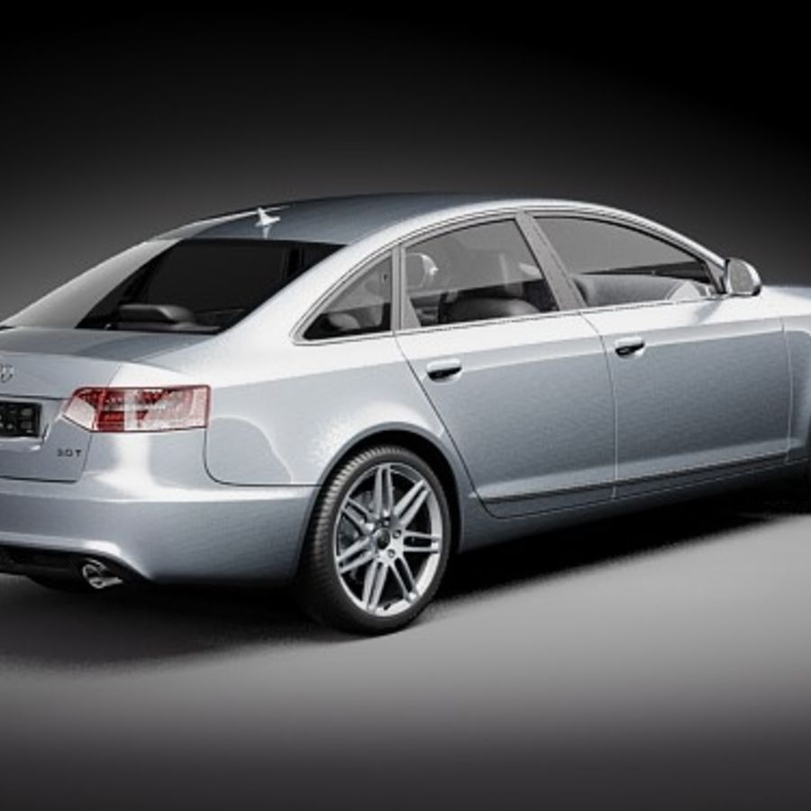 Audi A6 Limousine 2009 royalty-free 3d model - Preview no. 5