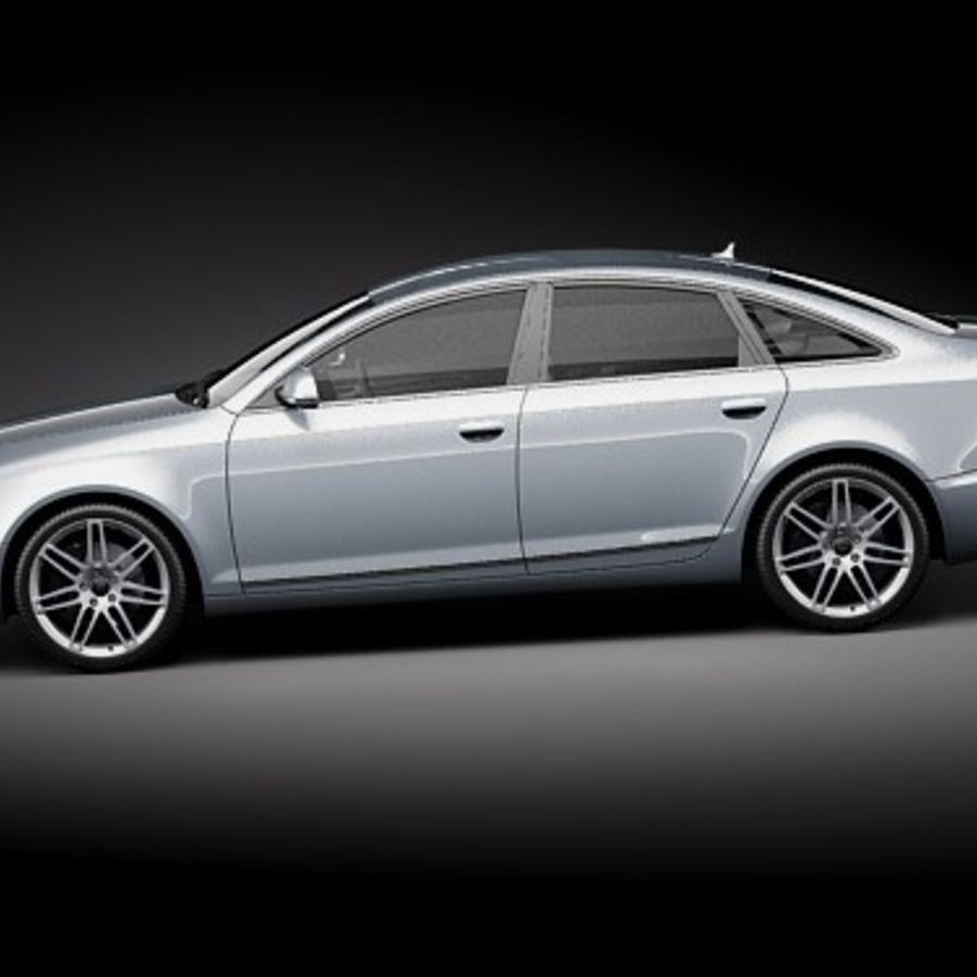 Audi A6 Limousine 2009 royalty-free 3d model - Preview no. 7
