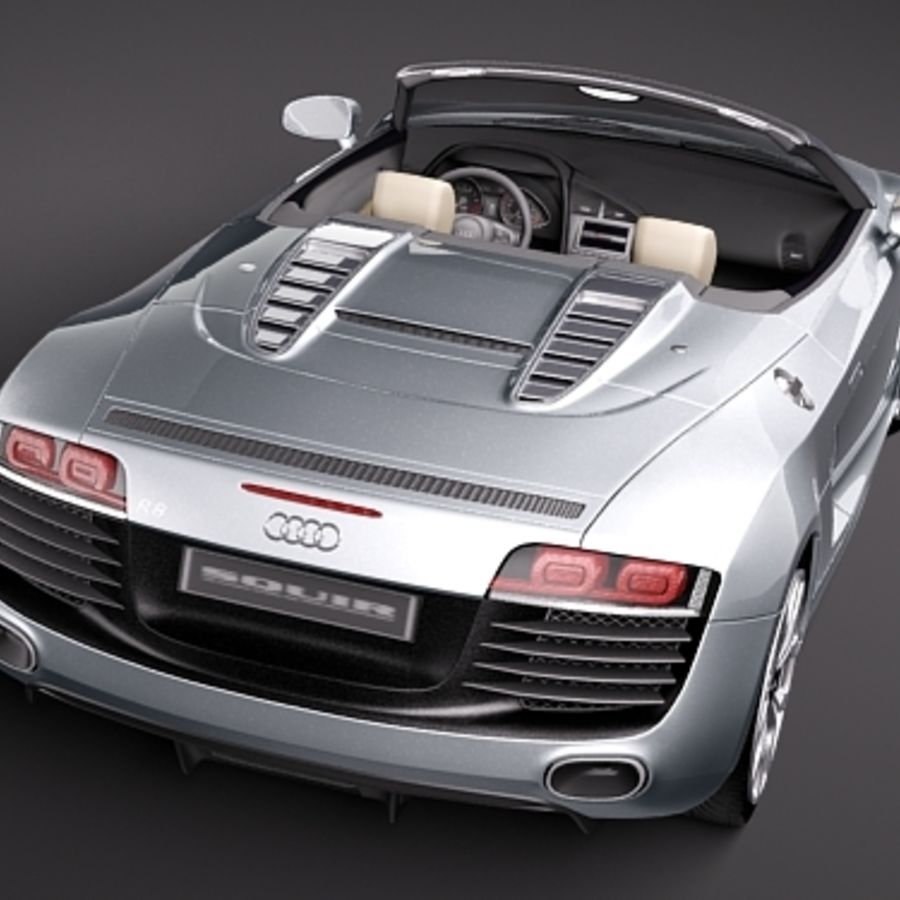 Audi R8 Spyder 2010 royalty-free 3d model - Preview no. 6
