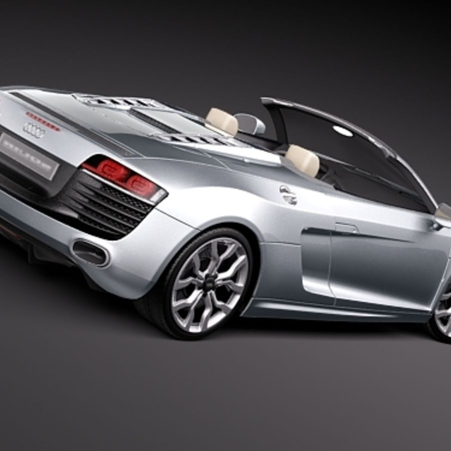 Audi R8 Spyder 2010 royalty-free 3d model - Preview no. 5