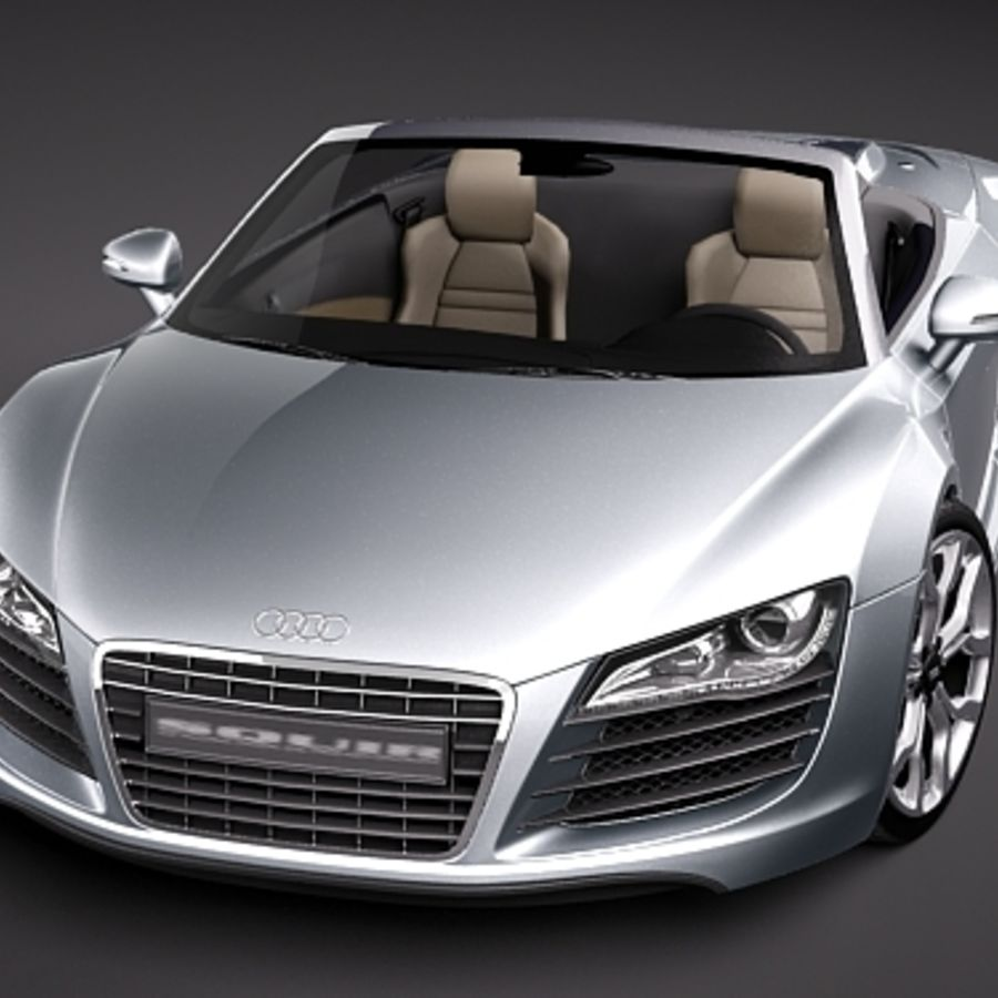 Audi R8 Spyder 2010 royalty-free 3d model - Preview no. 2