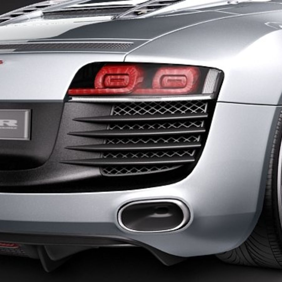 Audi R8 Spyder 2010 royalty-free 3d model - Preview no. 4