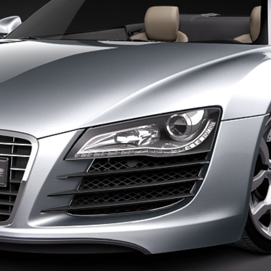 Audi R8 Spyder 2010 royalty-free 3d model - Preview no. 3
