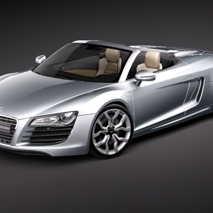 Audi R8 Spyder 2010 royalty-free 3d model - Preview no. 1