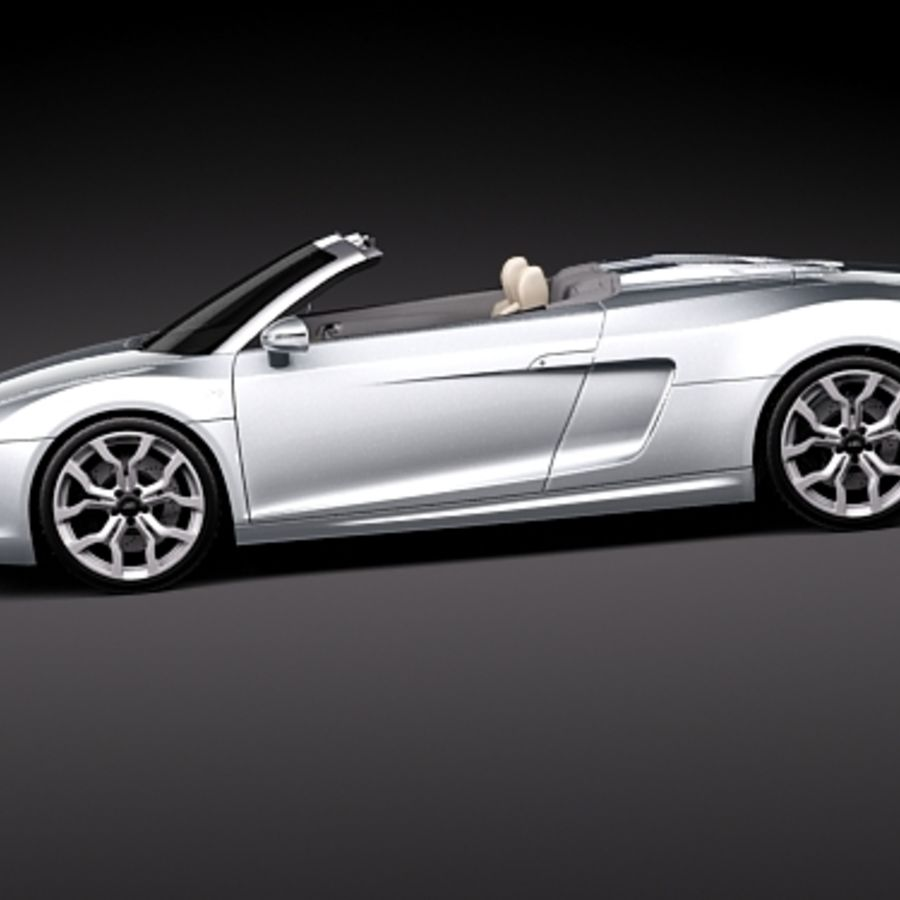 Audi R8 Spyder 2010 royalty-free 3d model - Preview no. 7
