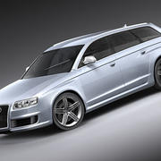 奥迪RS6 Avant 2008 3d model