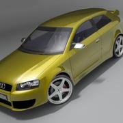 Audi S3 2004 3d model