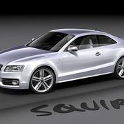 Audi S5 2008 modelo 3d