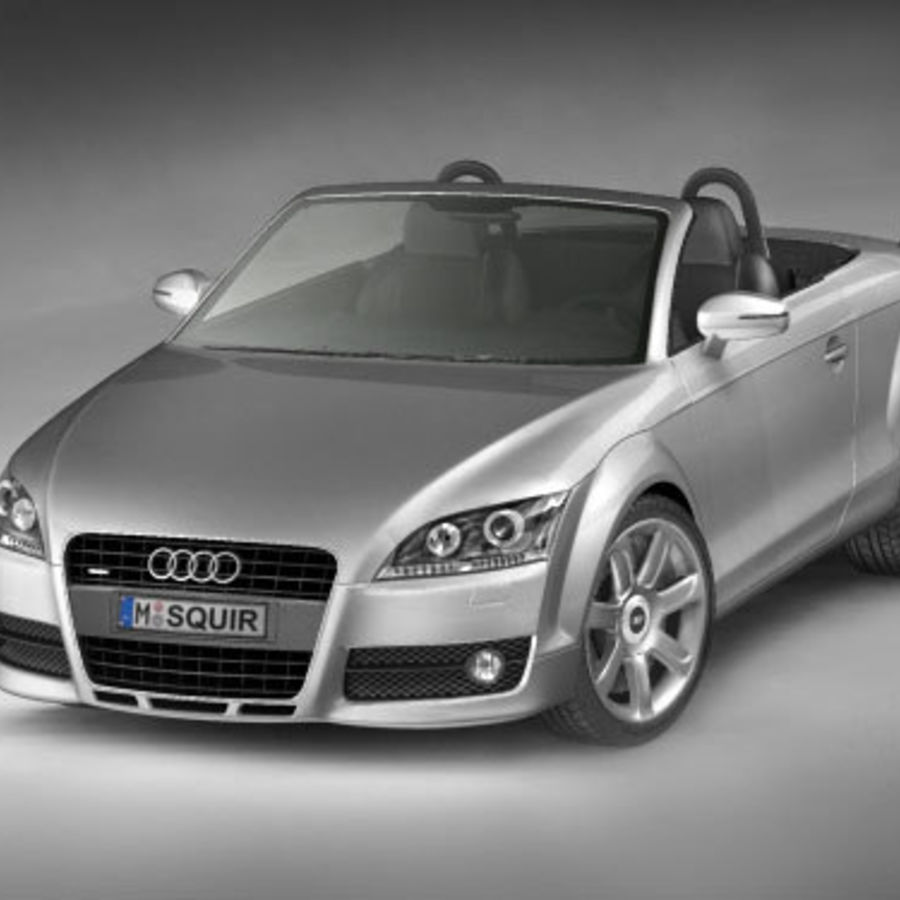 Audi TT Roadster 2007 royalty-free 3d model - Preview no. 1