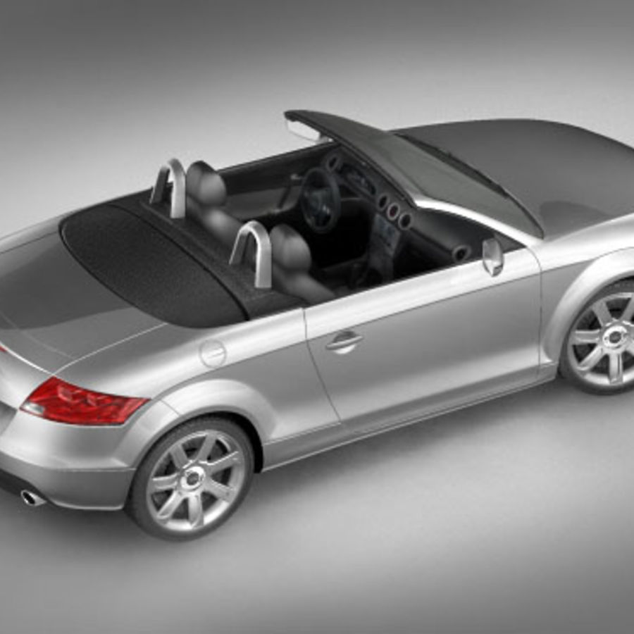 Audi TT Roadster 2007 royalty-free 3d model - Preview no. 2