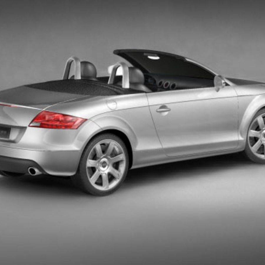 Audi TT Roadster 2007 royalty-free 3d model - Preview no. 3