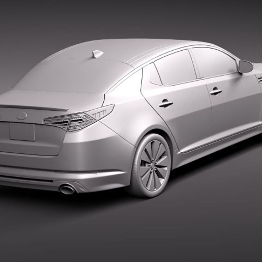 Kia Optima 2011 royalty-free 3d model - Preview no. 12