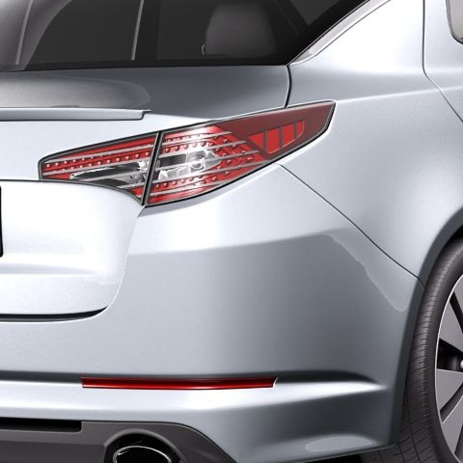Kia Optima 2011 royalty-free 3d model - Preview no. 4