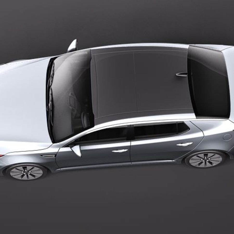 Kia Optima 2011 royalty-free 3d model - Preview no. 8