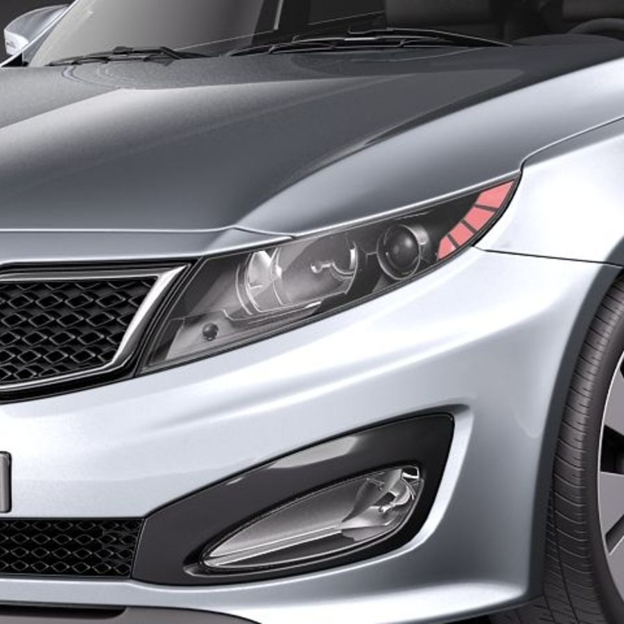 Kia Optima 2011 royalty-free 3d model - Preview no. 3