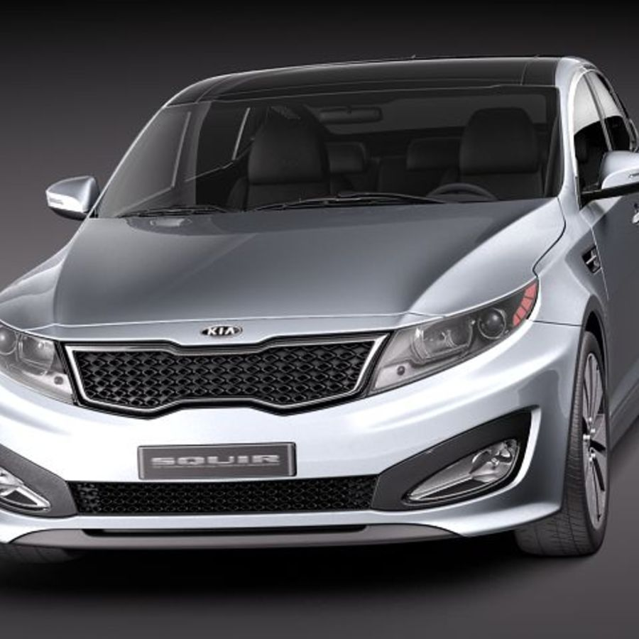 Kia Optima 2011 royalty-free 3d model - Preview no. 2