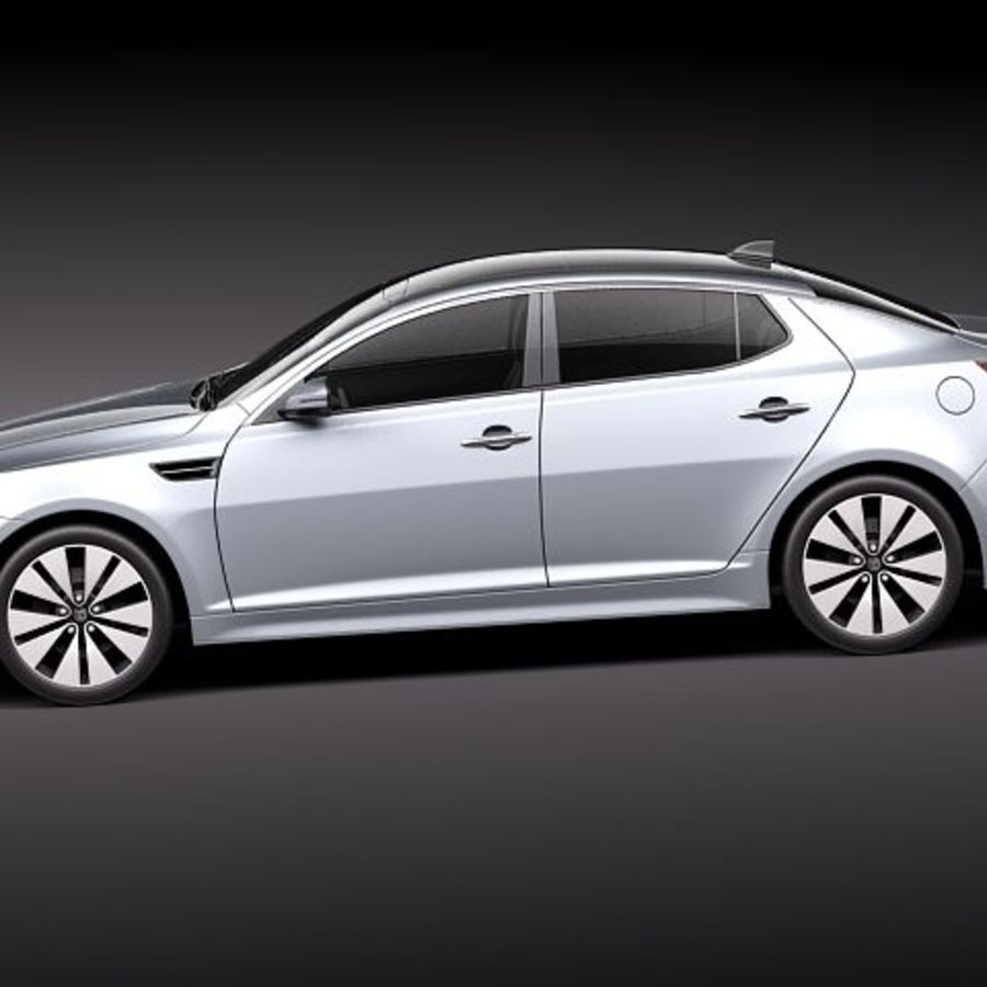 Kia Optima 2011 royalty-free 3d model - Preview no. 7