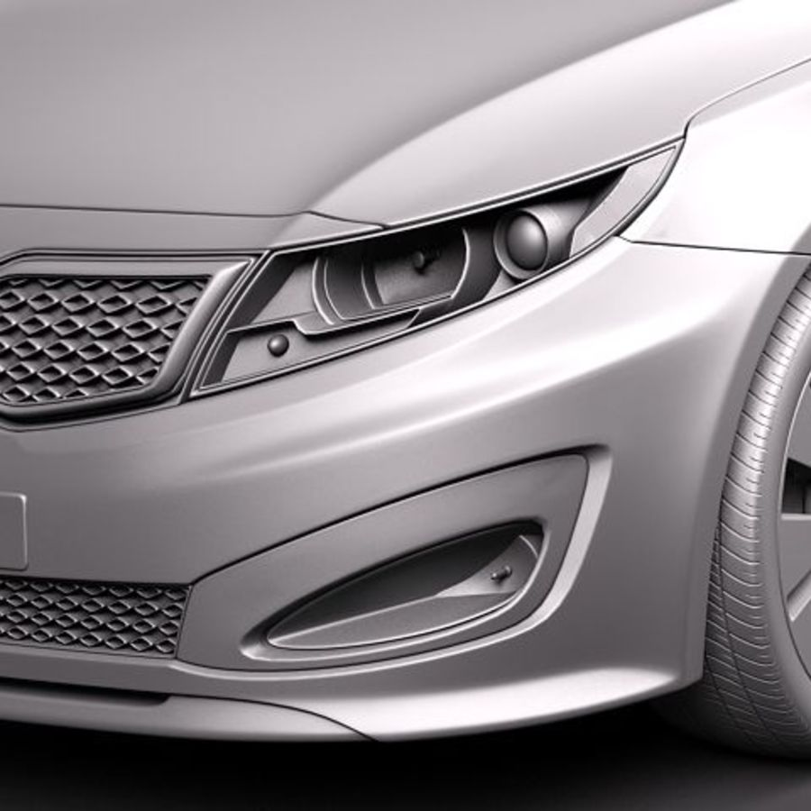 Kia Optima 2011 royalty-free 3d model - Preview no. 10