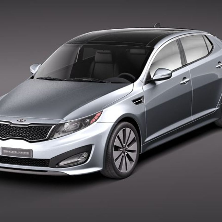 Kia Optima 2011 royalty-free 3d model - Preview no. 1