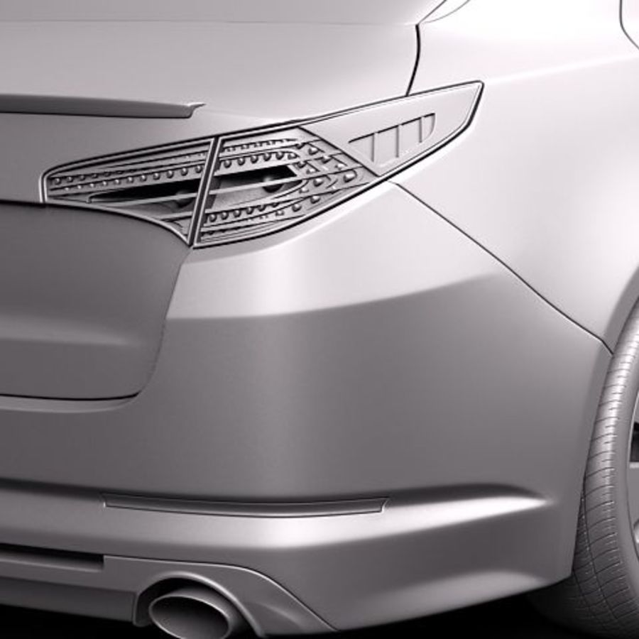 Kia Optima 2011 royalty-free 3d model - Preview no. 11